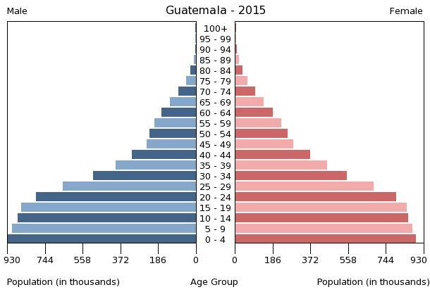 Bevölkerungspyramide 2015