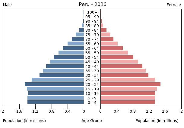 Bevölkerungspyramide 2016