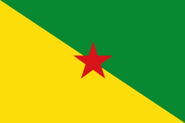 Flagge Rot Grüner Stern