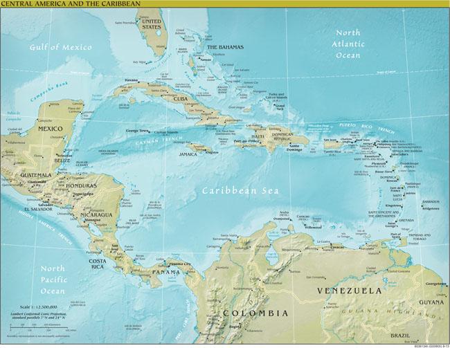Landkarten Von Mittelamerika