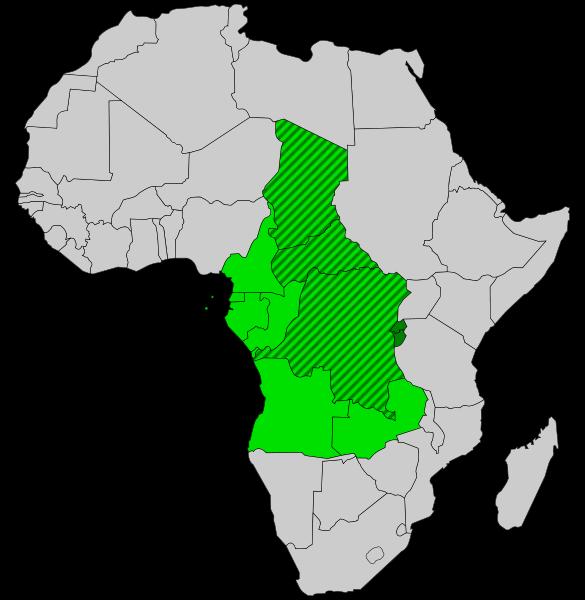 Schematische Karte Zentralafrika