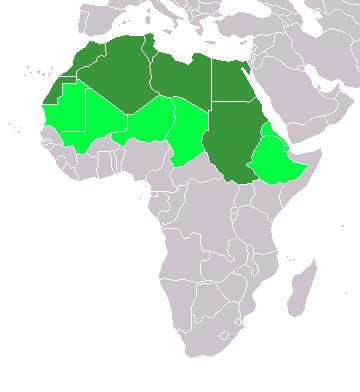 Schematische Karte Nordafrika