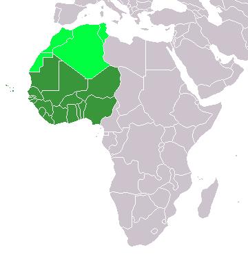 Schematische Karte Westafrika