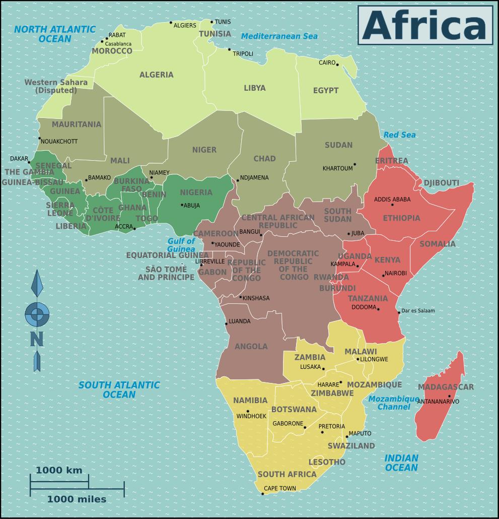 Afrika Karte Staaten.Landkarten Von Afrika Maps Of Africa