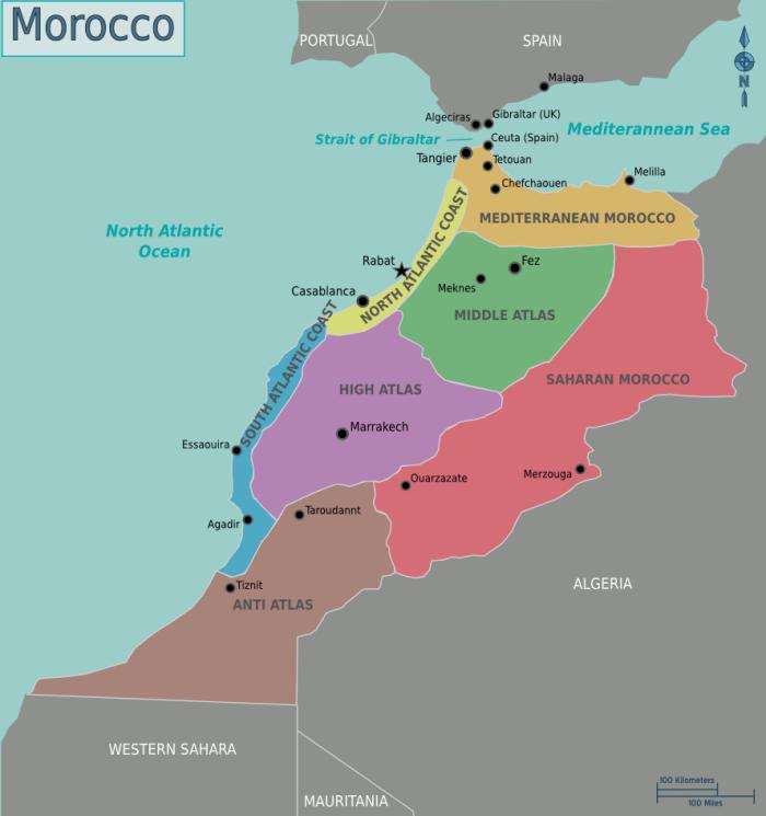 Landkarten Von Marokko Maps Of Morocco