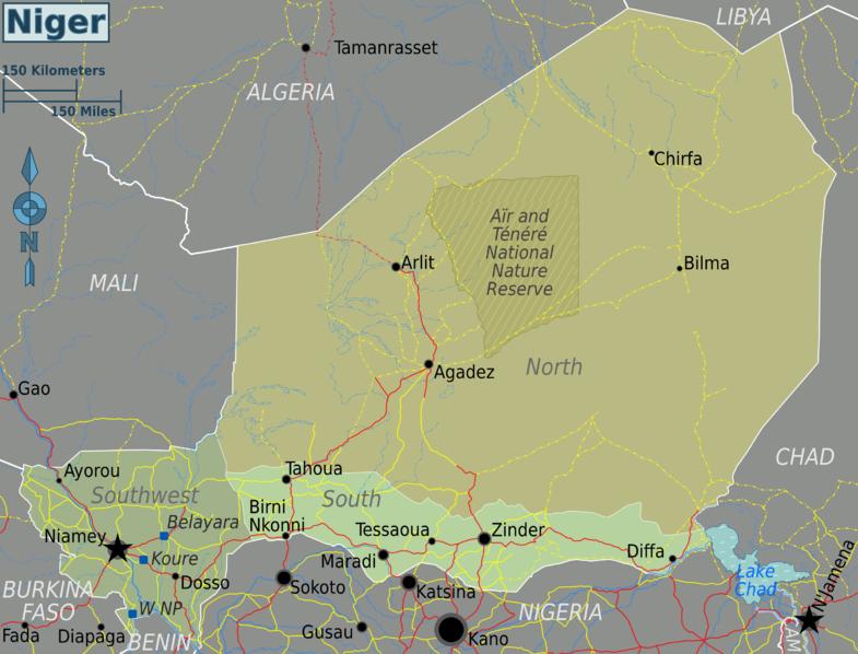 Landkarten von Niger - Maps of Niger