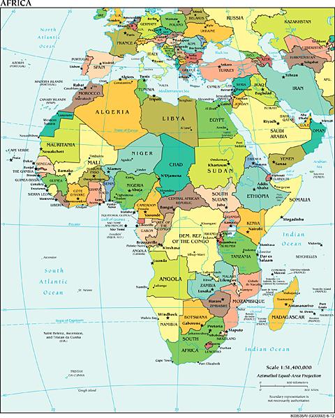Landkarten Von Afrika Maps Of Africa