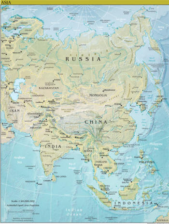 Indonesien Karte Physisch.Landkarten Von Asien