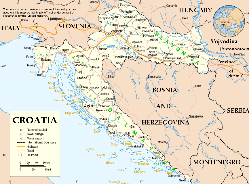 ... Derived from UN Map of Croatia) [Public domain], via Wikimedia Commons