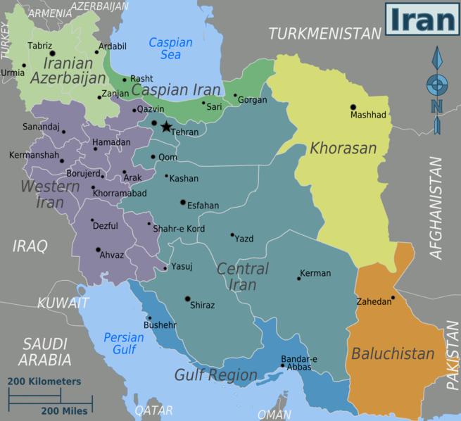 Persien Karte.Landkarten Vom Iran Persien