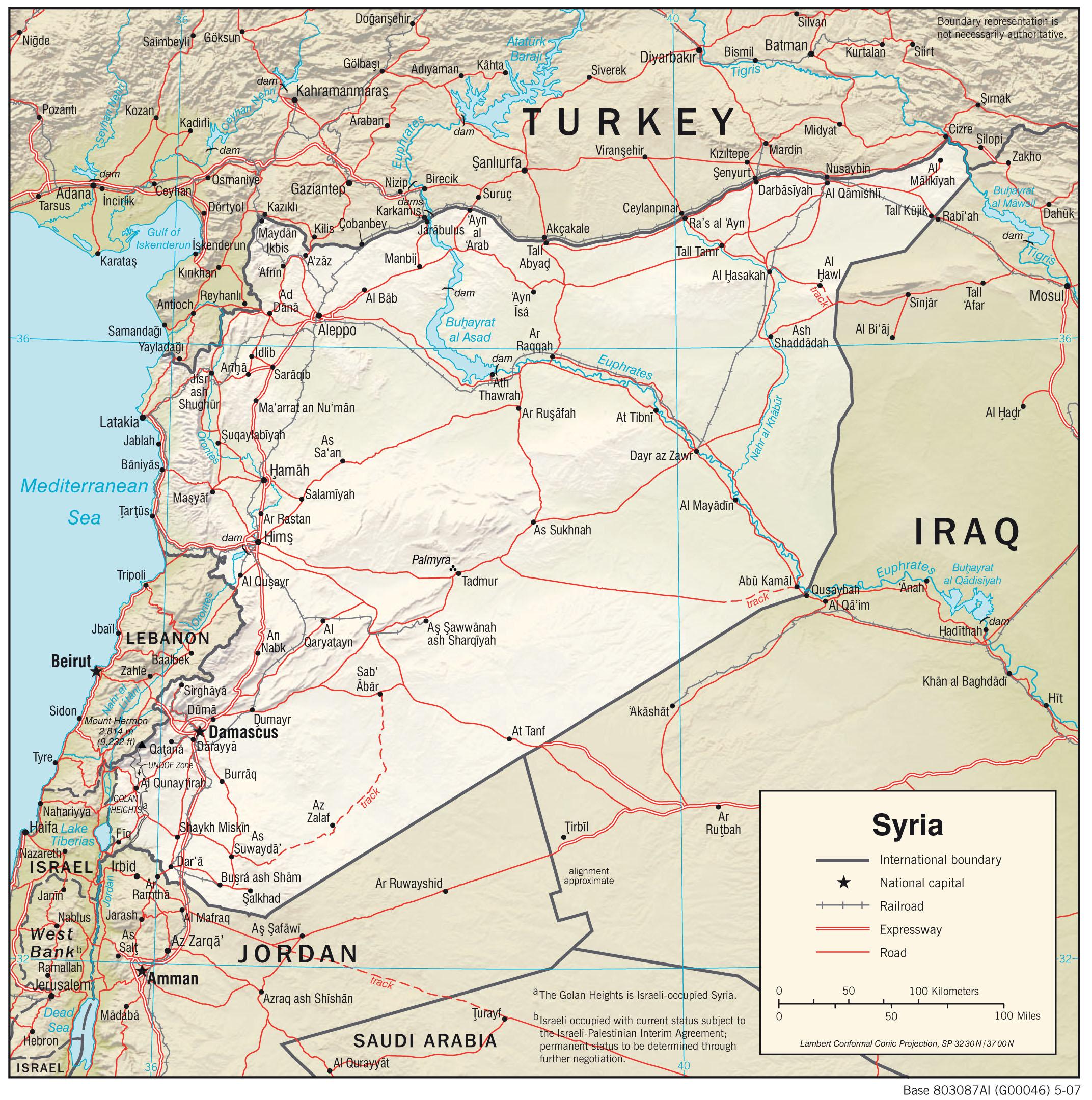 Karte Syrien.Landkarten Von Syrien Maps Of Syria
