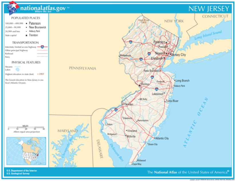 Karten von New Jersey - Maps of New Jersey