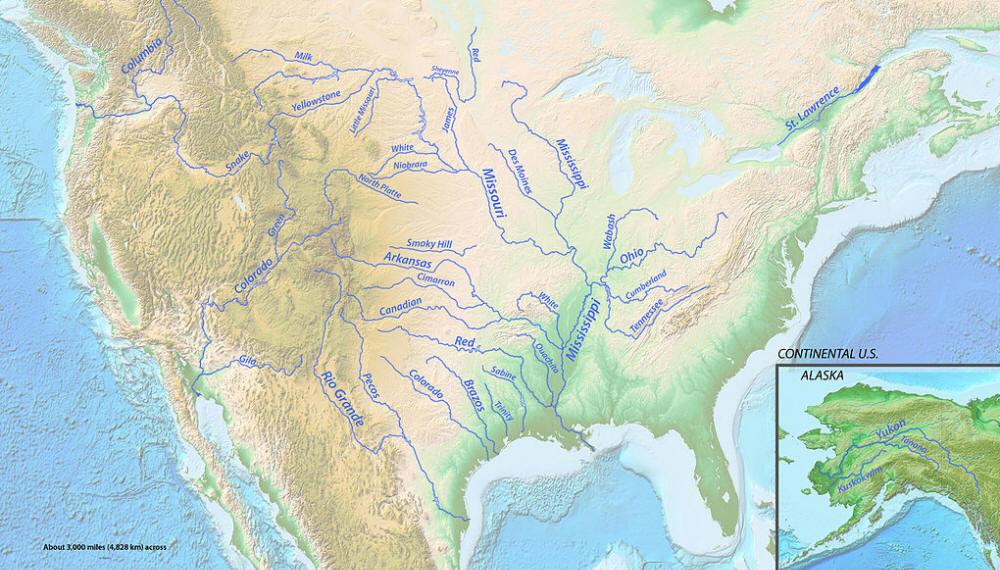 Karten Von Flussen In Den Usa