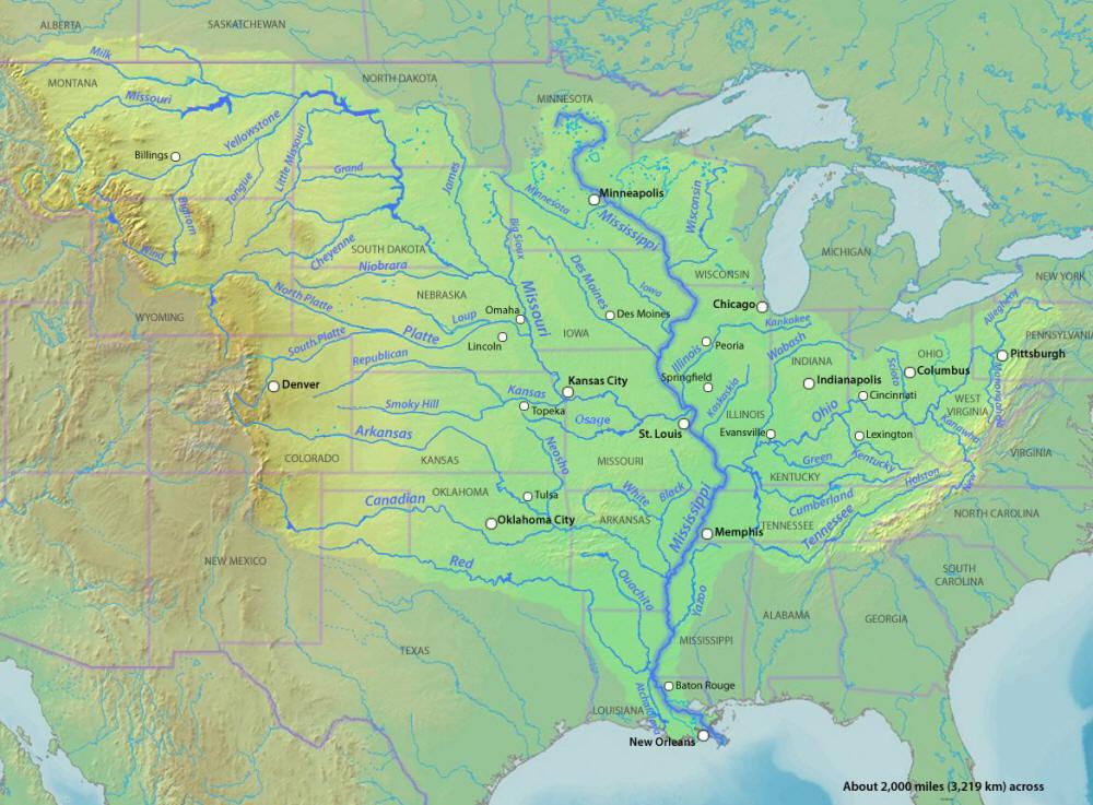 Karten Des Mississippi Rivers Maps Of The Misssissippi River