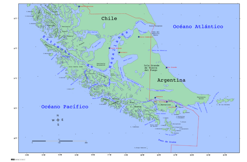 feuerland karte Landkarten von Feuerland   Maps of Tierra del Fuego feuerland karte