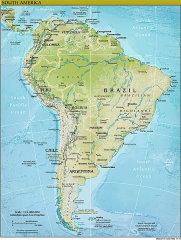 Physische Karte von Südamerika