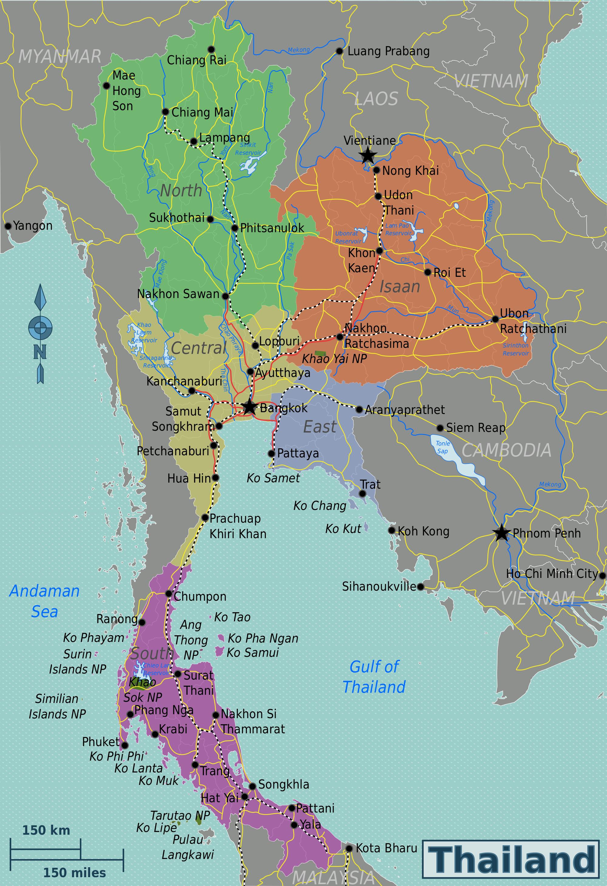 Thailand Karte.Landkarten Von Thailand Maps Of Thailand