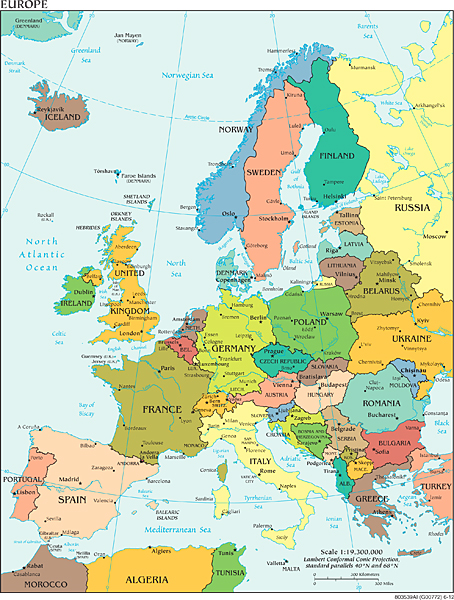 Landkarten Von Europa Maps Of Europe