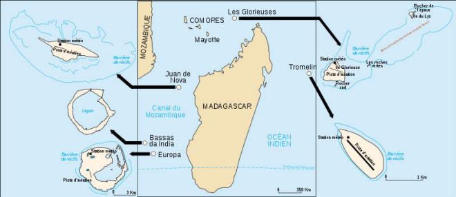 Landkarte der Iles Eparses