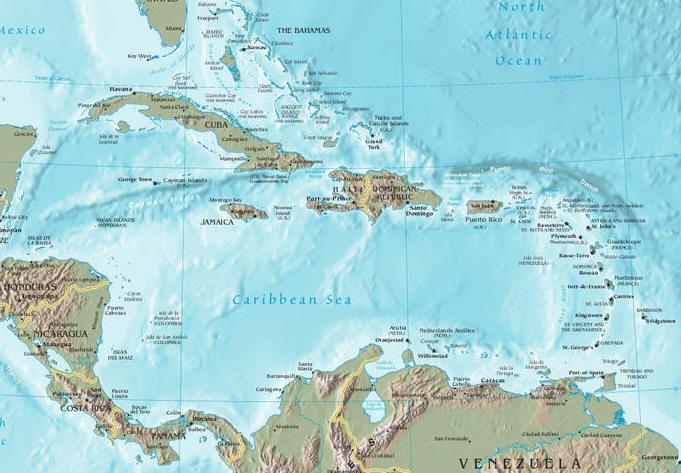 Aruba Karte Karibik.Landkarten Der Karibik Maps Of The Caribbean