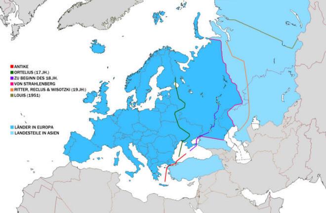 Landkarte Eurasien Map Of Eurasia