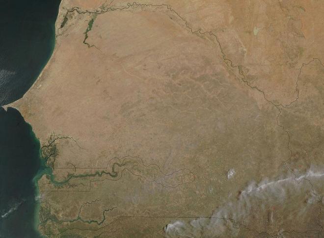 Satellitenaufnahme vom Senegal