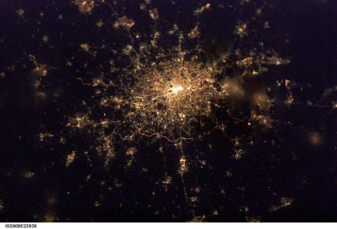 London at night satellitenfoto