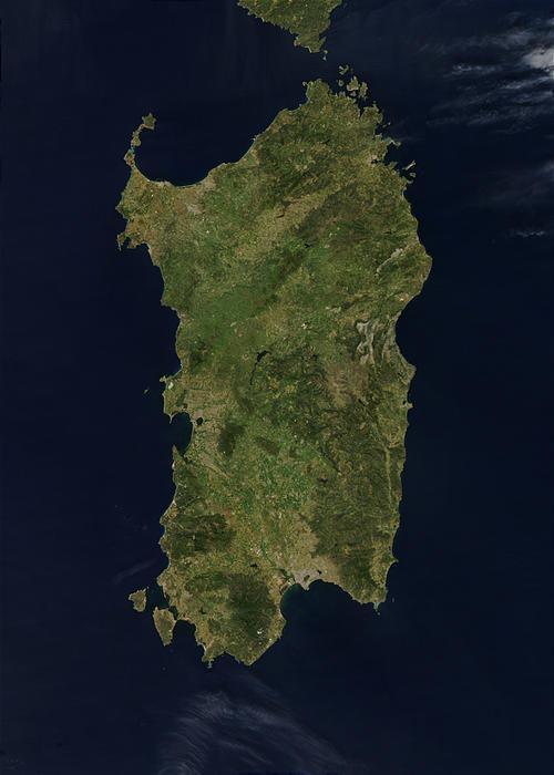 Satellitenbild Sardinien