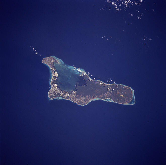 Satellitenfoto von Grand Cayman