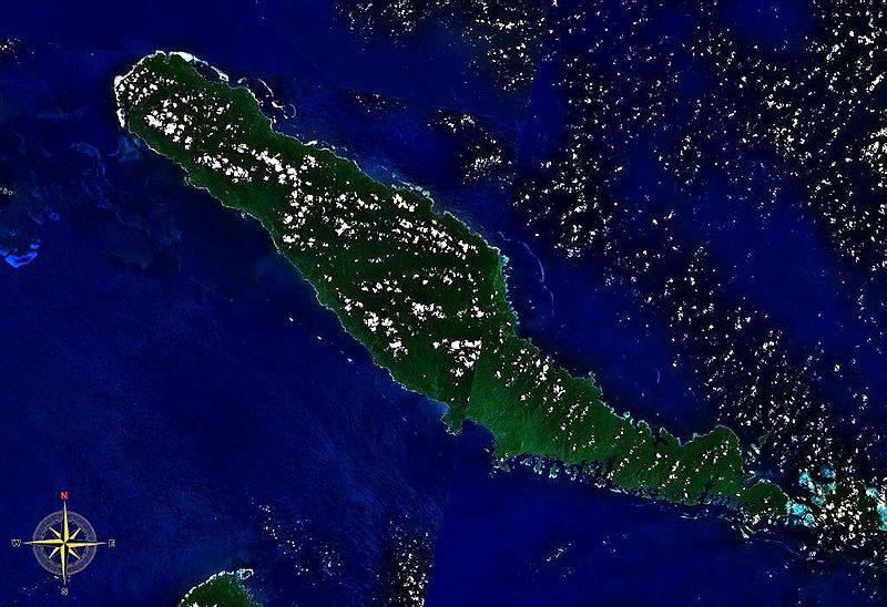 Satellitenaufnahme von Choiseul Island in the Solomon Islands