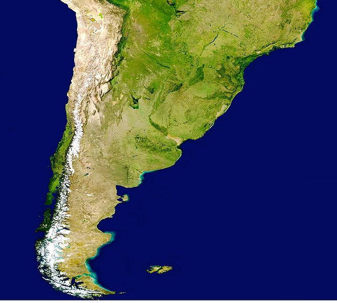 Satellitenfoto Chile