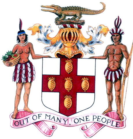 Das Wappen von Jamaika